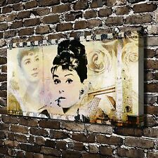 Audrey Hepburn Clips Paintings HD Print on Canvas Home Decor Wall Art Picture