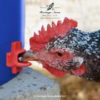 2 Pack Horizontal Side Mount Chicken Waterer Nipples Screw In Poultry Watering