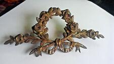 French Decorative Ormolu Bronze Pediment Overdoor Furniture  Salvage Ornament-2