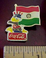 INDIA FLAG Coca-Cola 1984 Summer Olympics LAPEL PIN