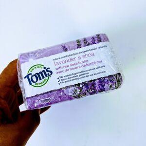 Tom's of Maine Natural Beauty Bar Soap Lavender & Shea 5 oz ea (6 Pack) 8/30/23