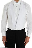 MENS WHITE TIE MARCELLA DRESS BACKLESS EVENING WAISTCOAT/VEST