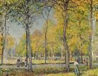 The Bois De Boulogne Alfred Sisley Fine Art Print on Canvas Repro Giclee Small