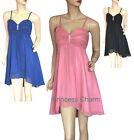 SZ 10 12 14 16 18 20 22 Black Pink Blue Cocktail Dress Short New