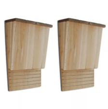 Handcrafted Bat House Single Chamber, Wooden Nest Box Set of 2, Mosquito Control
