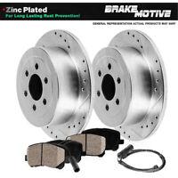 Front Brake Rotors /& Ceramic Pads for 2007-2012 Dodge Freightliner Sprinter 2500