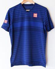 UNIQLO x Kei Nishikori 2017 French Open DRY-EX V-Neck T-Shirt S Blue Stripe NWT!