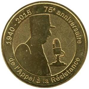 52-2093 - JETON TOURISTIQUE MDP - 75e anniv. de l'Appel à la Résistance - 2015.4