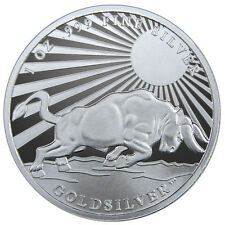 Silver Bull - Greek Hero Atlas 1 oz .999 Silver Round USA Made Proof-Like Coin