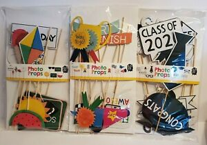 Photo Booth Photo Props~Summer/Race/Graduation Themes~You Choose~10 Pieces
