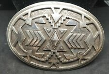Ivan Metal Belt Buckle South Western Style Pewter