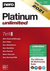 Nero Platinum Unlimited 2021 1 PC - Dauerlizenz ESD