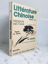 Littérature Chinoise Fresques des Tang  Trimestre 2 , 1983