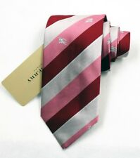 """NEW Burberry RED Stripes Mans 100% Silk Tie Authentic Italy Made 3.5"""" 035025"""