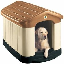 XXL Dog Kennel Insulated Extra Large Pet Plastic House Grate All Weather Outdoor