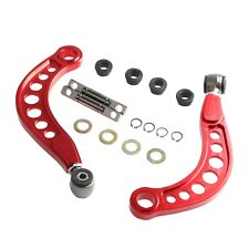 FOR 06-15 HONDA CIVIC 1.8L 2.0L REAR UPPER CAMBER CORRECTION KIT ANODIZED RED