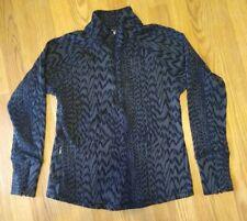New listing Lucy Active wear Tech Gray Running Pullover Top Zip Sweatshirt Women's M