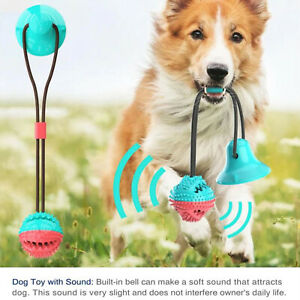 Dog Toys Molar Bite Toy Pet Rope Ball Stick Chew Pet Tooth Cleaning Suction Cup