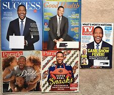 Lot 5 Michael Strahan magazine: Success, Good Health, TV Guide + Parade 2014, 16