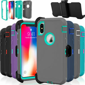 For iPhone XS MAX Shockproof Defender Case Cover With Belt Clip Fits Otterbox US