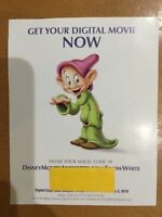 Disney's Snow White and the Seven Dwarfs Digital HD Code (Delivered via eMail)