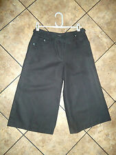 A PAIR OF LADIES BLACK LINEN MIX SHORTS BY MARKS & SPENCER SIZE 8 UK NEW