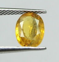 1.97 Ct Certified Natural Yellow Sapphire Loose Oval Pukhraj Astro Gemstone