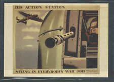 1943 PPC* British Saving Is Every Bodys War Job His Action Station See Info