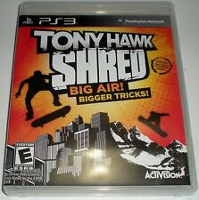 PS3 PLAYSTATION 3 GAME TONY HAWK SHRED BIG AIR BIGGER TRICKS NEW BROKEN SEAL
