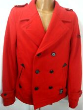 Of The Neige Womens Red Double Breasted Skull Lined Wool Blend Coat  44