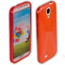 Coque arrière pour samsung Galaxy s4 sac Housse de protection case s 4 i9500 rouge + film