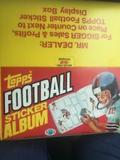 Box of 12 1981 TOPPS FOOTBALL STICKER  ALBUM 1ST EDITION UNUSED New Old Stock