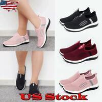 Women Knit Slip-On Sneakers Tennis Comfortable Walking Shoes Light Weight Sports