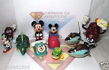 New listing Vintage Wind Up Walker Toy Lot- Disney Mickey Mouse,Raisins,Phone,Frog, Dinosaur