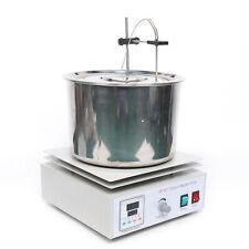 New listing Magnetic Stirrer Water Bath Digital Dual Controls+Heating Plate Home Laboratory