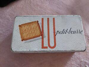 Boîte Métal Petit Beurre Lefèvre-Utile Lu Ancienne