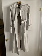 NWT Belstaff Off White Linen & Leather Trench Coat