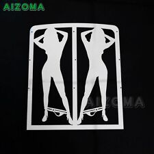 Chrome Radiator Grille Guard Cover Sexy Girl For YAMAHA Banshee Grill 1987-2012
