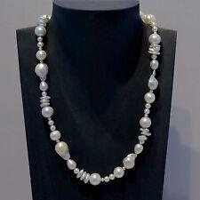 Natürliche Echte Perlen-Halsketten & -Anhänger aus Sterlingsilber für Besondere Anlässe