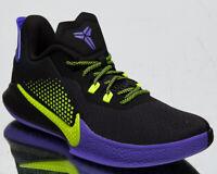 Nike Mamba Fury Men's Kobe Black Lemon Venom Purple Basketball Shoes Sneakers
