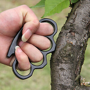 Multifunctional Portable Finger Knuckle Survival Self Defense Tool with Hole