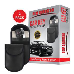 2 x Car Key Signal Blocker Case Faraday Cage Fob Pouch Keyless RFID Blocking Bag