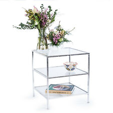 Silver Gilt Leaf Parisienne Metal Three Tier End Side Table