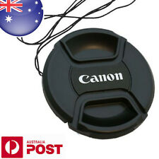 CANON LENS CAP - 58mm Camera Snap-on Len Cap Cover + Cord - AUS POST - Z003