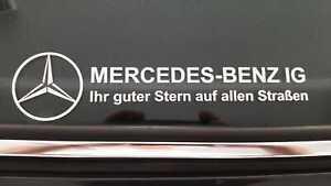 """MBIG Aufkleber """"Ihr guter Stern auf allen Straßen """" Mercedes W120 W121 W110 w123"""