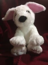"LEGO Plush White Dog 2012 Pink LEGO On L Paw 10""x5"" Beanie Butt For Sitting Mint"