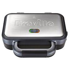 Breville Sandwich Maker 850W Non Stick Dishwasher Safe Plates Cord Storage New