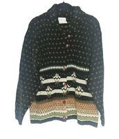 Women's Vintage Orvis Sweater Cardigan Size Small 100% Lambs Wool