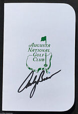 ANDY BEAN SIGNED AUGUSTA NATIONAL GOLF MASTERS TOURNAMENT SCORECARD COA J1