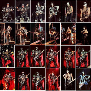 100 Kiss (full make-up tour) colour concert photos 1980